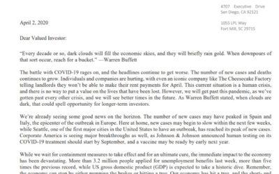Client Letter   When It Rains Gold, Reach for A Bucket   April 2, 2020