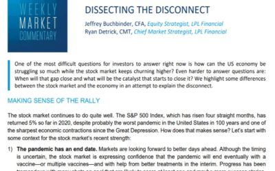 Dissecting The Disconnect| Weekly Market Commentary | August 10, 2020