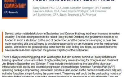 Policy Risks Loom But Clarity Ahead   Weekly Market Commentary   September 13, 2021